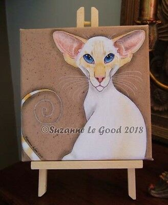 Siamese Cat redpoint art painting original hand painted canvas Suzanne Le Good