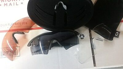 Oakley M Frame Hybrid 3 Lens Array Clear Grey VR28 with Case and Microbag NEW