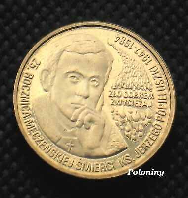 COIN OF POLAND - 25th ANNIVERSARY OF MARTYR DEATH OF JERZY POPIELUSZKO (MINT)