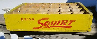 Drink Squirt Vintage Wooden Bottle Holder Carrier Crate
