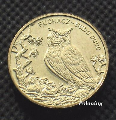 Commemorative Coin Of Poland - Animals Of The World Owl - Puchacz Sowa (Mint)