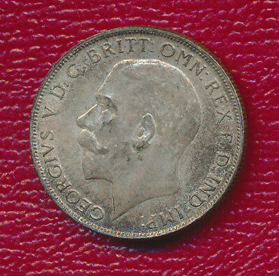 1924 Great Britain One Silver Florin **high Grade - Nice Toning** Collectible!