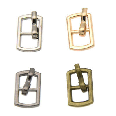 20 Pcs Mini Metal Buckle for Doll Belt Shoe Sewing Button Dollhouse Accessories