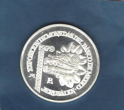 Mexico Israel  1979 Israel Coin Exhibition Mexico   Sterling Silver Medal