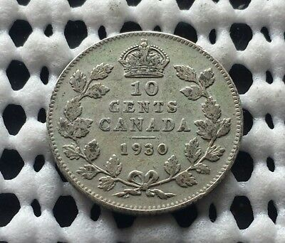 1930 ❀ King George V ❀ 10 Cent Canada Silver Dime Coin lot