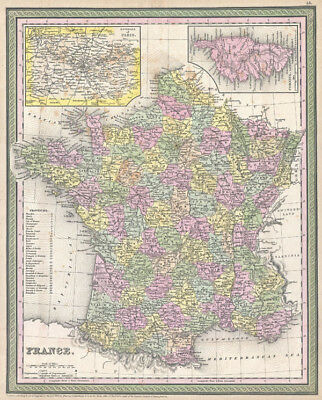 1853 Mitchell Map of France