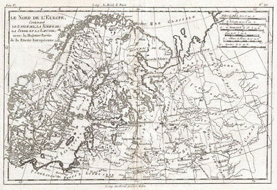 1780 Raynal and Bonne Map of Northern Europe and European Russia