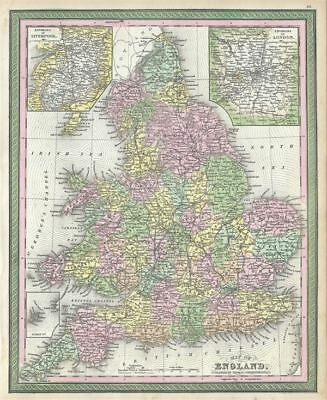 1854 Mitchell Map of England