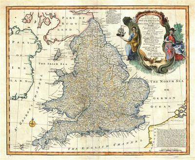 1747 Bowen Map of England and Wales