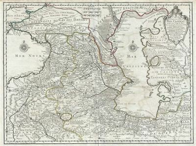 1723 Delisle Map of the Caucuses and the Caspian Sea