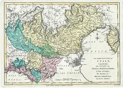 1794 Wilkinson Map of Northeast Italy and the Estates of Venice