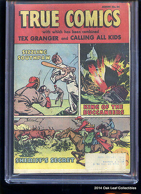 True Comics 84: CGC 8.5 1950 OW-White pages RARE!  Mail subscribers ONLY!