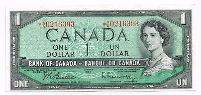 1954 (1961-71) Canada One Dollar Replacement Note