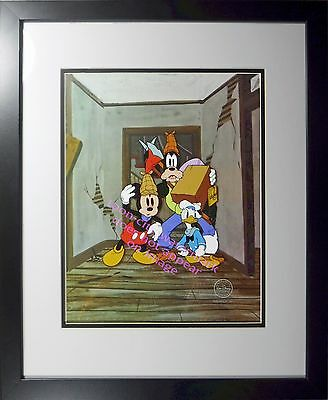 Mickey cel Mouse Goofy cel Donald  Lonesome Ghost Disney Sericel New Frame
