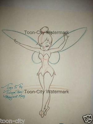 Time to Fly Giant 28 x 20 inch Tinker Bell Disney Fine Art print Margaret Kerry