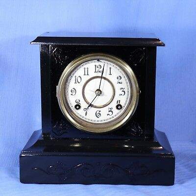 Waterbury Antique Mantle Clock Near All Original Looks Great - For Parts