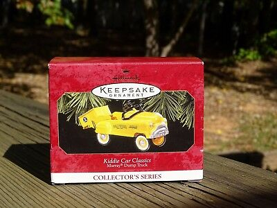 Rare New 1997 Hallmark 1953 Murray Dump Truck Kiddie Car Classics Ornament Nice