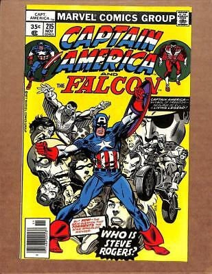 Captain America # 215 - NEAR MINT 9.8 NM - Falcon Avengers Iron Man MARVEL!