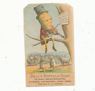 C8039    Victorian Trade Card C.h Manchester Groceries Dressed Vegetable Soap