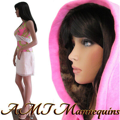 """35/25/35"""" hgt: 5ft-10 Female sexy mannequin, dress form manikin -Katie+1wig LY"""