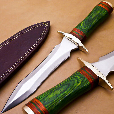 Hand Made Stainless Steel Blade Hunting Knife- Hard Wood - P-2680