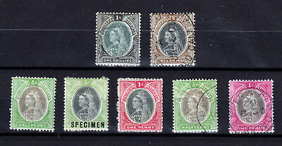 South Nigeria 1901  Sg# 6, 7  Used (125 Pounds) + 5 Cheap Stamps