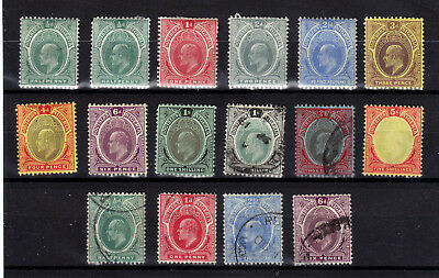 South Nigeria 1907  Sg# 33-40 Mlh * , 40-42 Used  Totally  16 Stamps