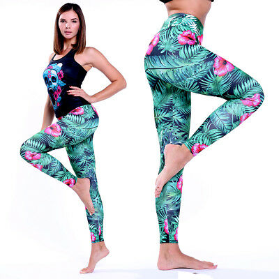 Women Sport Yoga Workout Gym Fitness Leggings Pants Athletic Clothes Trousers US