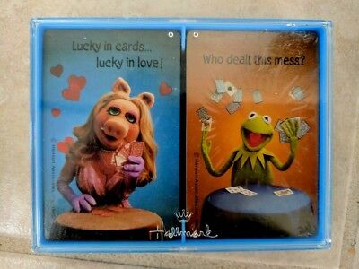"Vintage Hallmark ""Jim Henson's MUPPETS"" Bridge Playing Cards & Case 1980"