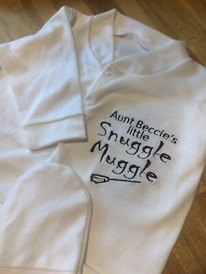 Personalised Baby Sleepsuit/Babygrow, Boy or Girl, Perfect for Harry Potter Fans