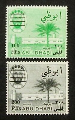 nystamps British Abu Dhabi Stamp # 22 23 Mint OG H $44