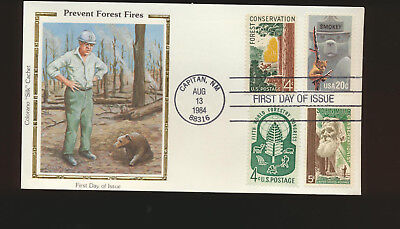 Smokey Bear #2096 Colorano Silk Combination First Day Cover John Muir Lot 1116