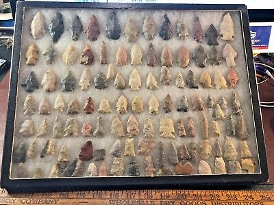lot 125 very small bird point Arrowheads most pointed location unknown RD
