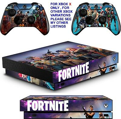 Fortnite Xbox One X Textured Vinyl Protective Skins Decals