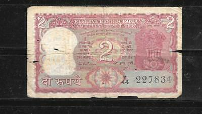 INDIA #53b 1975 GOOD CIRC2 RUPEES OLD BANKNOTE PAPER MONEY CURRENCY BILL NOTE