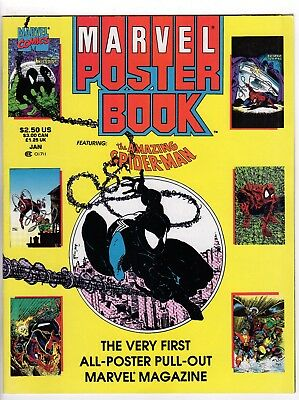 MARVEL POSTER BOOK #1 Amazing Spider-Man (1991, Marvel) McFarlane Venom