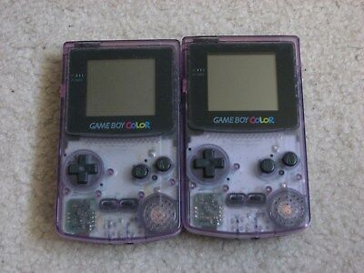 Lot Of 2 Game Boy Color Systems & 12 Games All Tested Working Atomic Purple GBC