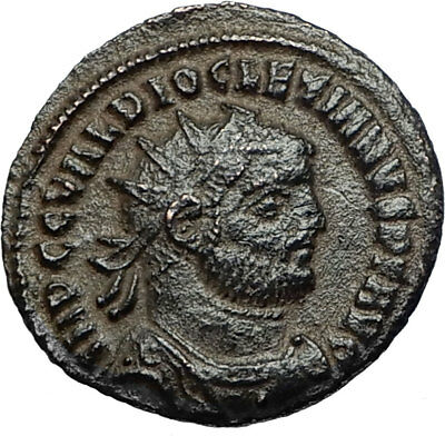 DIOCLETIAN Original 295AD Authentic Ancient Roman Coin JUPITER VICTORY i67636