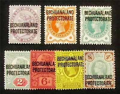 nystamps British Bechuanaland Protectorate Stamp # 69 // 74 Mint OG H $70