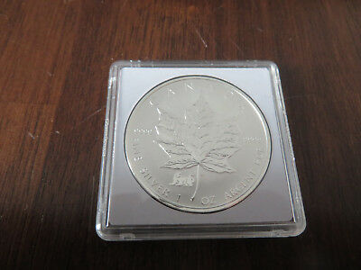 1 Unze Silber 1998 5 Dollars Maple Leaf Privy Löwe
