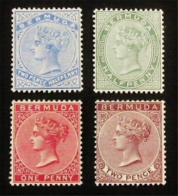 nystamps British Bermuda Stamp # 18 // 22 Mint OG H $37