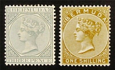 nystamps British Bermuda Stamp # 23 25 Mint OG H $48
