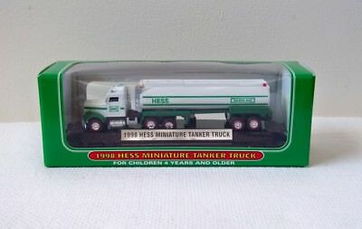 1998 1st Edition HESS Miniature Collectible Toy Tractor Trailer Tanker Truck