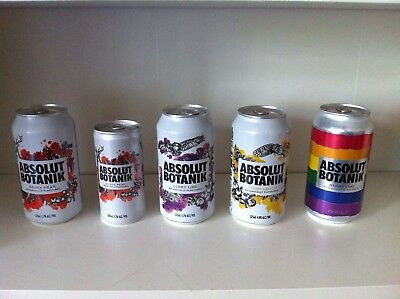 The Complete Absolut Vodka Botanik Can  Collection - Alle 5 Dosen - New