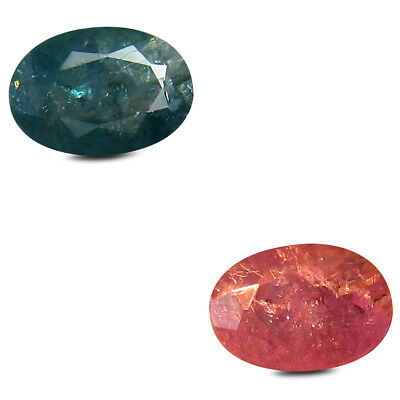 0.62 ct Shimmering Oval (6x4mm) Unheated Color Change Alexandrite Loose Gemstone