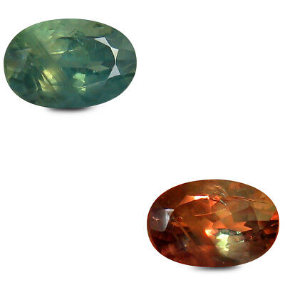 0.69 ct Oval (6 x 4 mm) Un-Heated Color Change Alexandrite Loose Gemstone