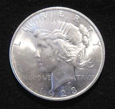 Brilliant Uncirculated 1923-P Peace Silver Dollar 90% Silver