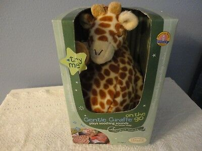 Cloud b Gentle Giraffe Plush On the Go Soothing Sounds New