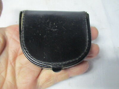 Vintage Noymer Made In England leather pouch container