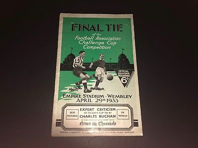 1933 Fa Cup Final Programme Everton V Manchester City..ultra Rare!!